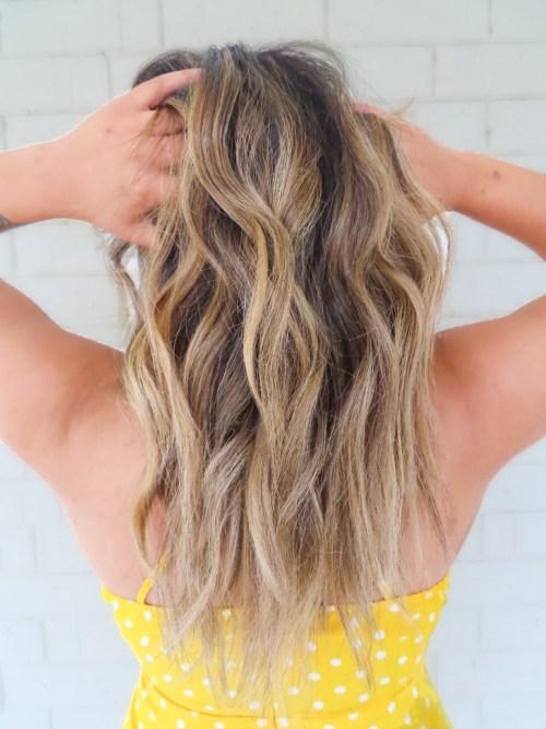 Honey Blonde Balayage on Brown Hair
