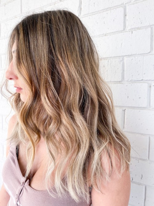 Dimensional Blonde with Light Hair Tips
