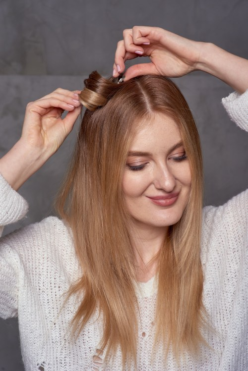 Pinning Curls Hack for Hair that Won't Hold a Curl