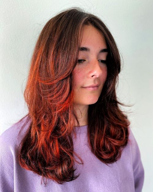 Long Layered Hairstyle for Wavy Hair
