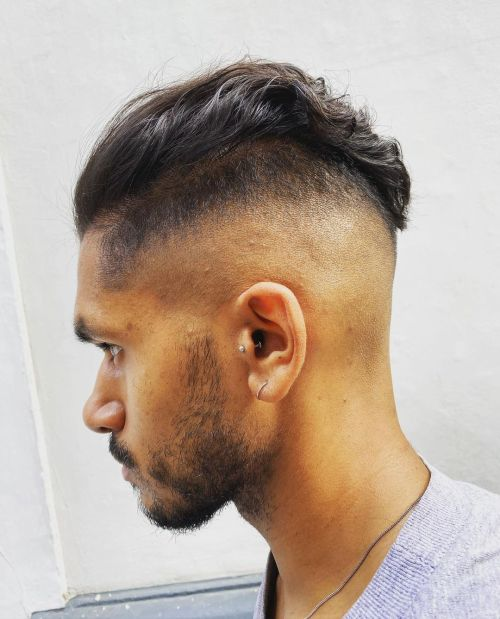 Men's Haircut with Shaved Sides and Back