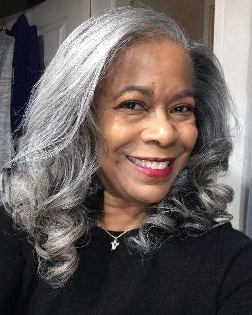 Black Woman with Silver Hair