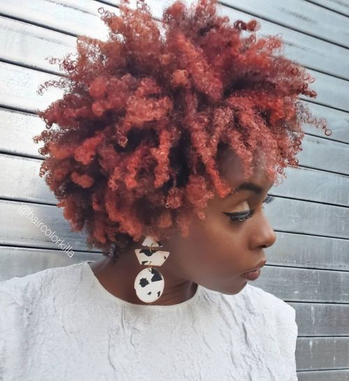 Red Hair Color for Dark Skin