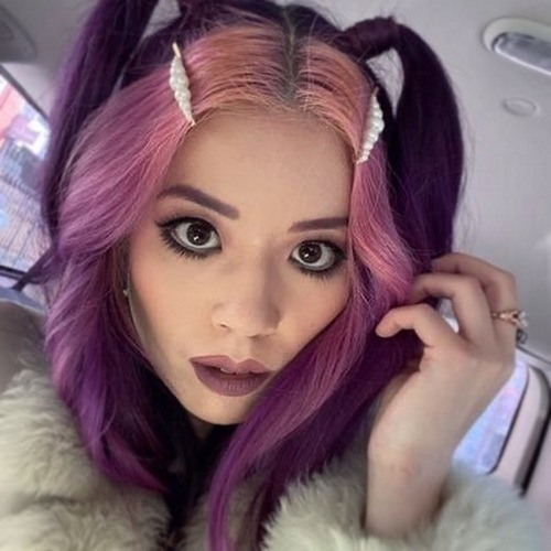 Purple E Girl Hair Pigtails Hairstyle