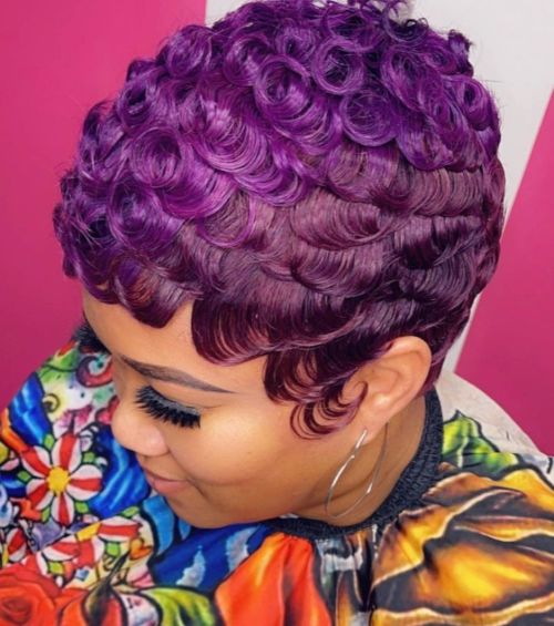 Dimensional Violet Hair Color