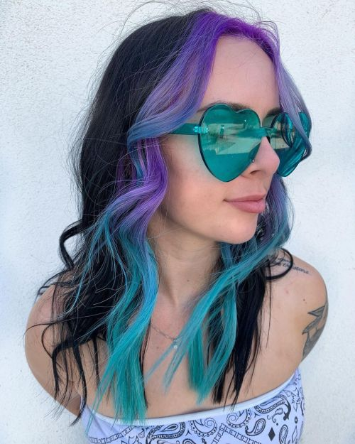 High Contrast E Girl Hairstyle