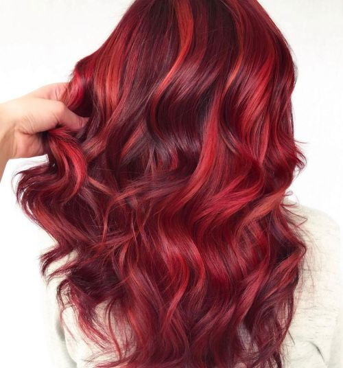 Dimensional Red Hair Color