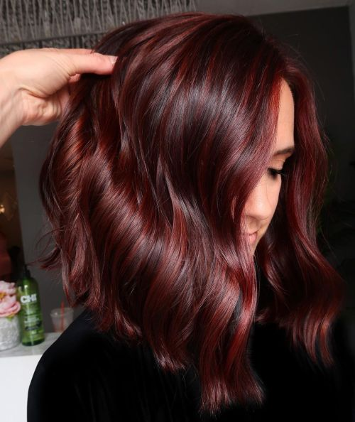 Rich Deep Red Hair Color