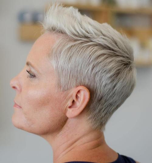 Short Pixie With Brushed Over Quiff
