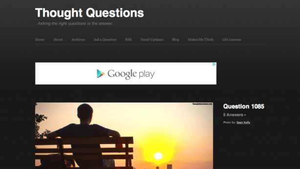 The Right Questions - though questions