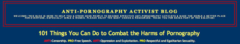 Anti-Pornography Activst Page Graphic