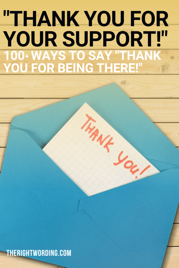 Thank You For All Your Help And Support : thank, support, 'Thank, Support', Right, Wording