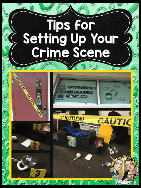 Get tips for setting up your crime scene HERE!
