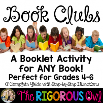 Book Club Booklets! A great activity to add to your classroom to use with ANY book!