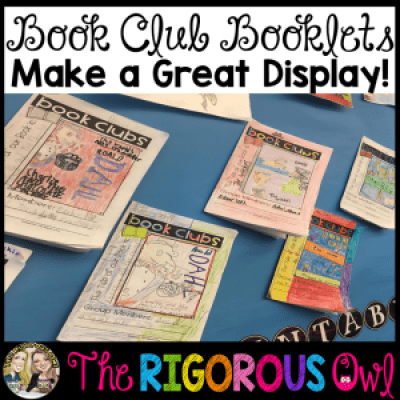 Check out this great display of Book Club Booklets!