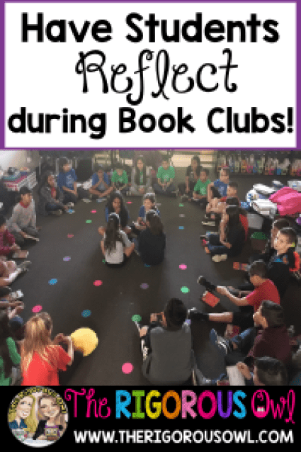 Learn how students can reflect on their work during Book Clubs!