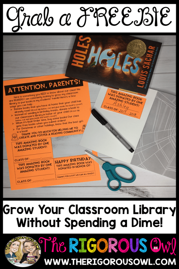 Growing your classroom library has never been so easy! GRAB THIS FREEBIE NOW!