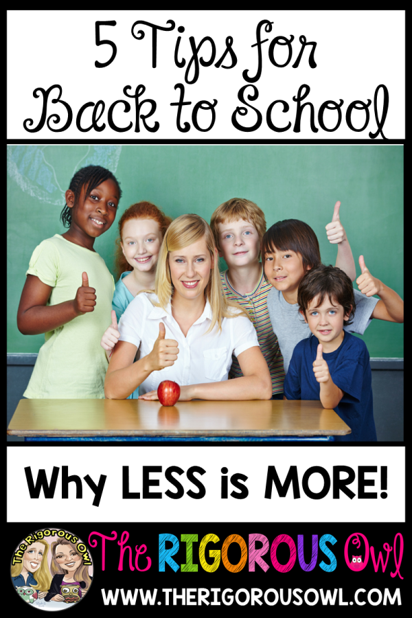 5 Tips for Back to School... Why LESS is MORE!