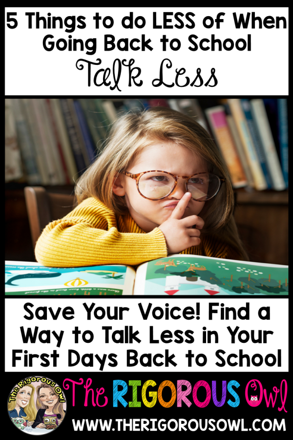 Talk Less When Going Back to School