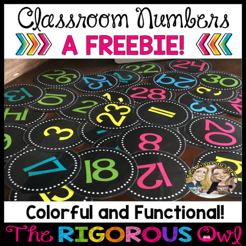 Classroom Numbers Back to School Freebie