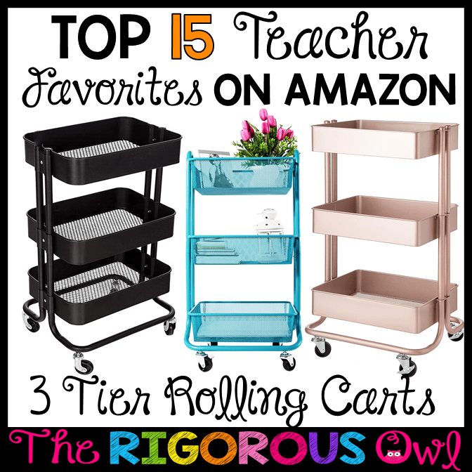 3 Tier Rolling Cart on Amazon