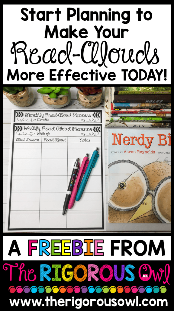 Plan for your Read-Alouds with this FREEBIE!