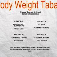 Workout Wednesday: Body Weight Tabata