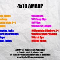 Workout Wednesday: 4x10 AMRAP