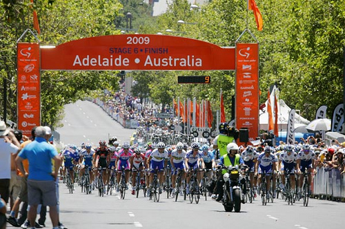 The final day of the 2009 Tour Down Under held on the streets of the city of Adelaide.