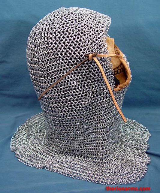 Therionarms Maille Coif With Vertical Ventail