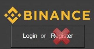 Binance Closed Registrations