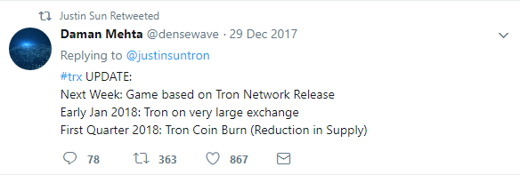 Summary of upcoming Tron events