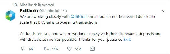 RaiBlocks states that funds are safe