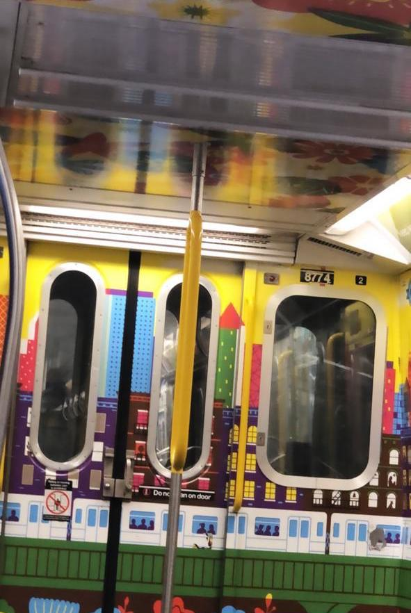 fear, fearlessness, nyc, new york, subway, train, colorful, pretty