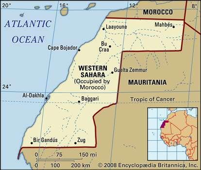 Map-Western-Sahara and Morocco