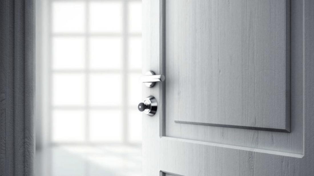 Plain Door Black and White Aesthetic