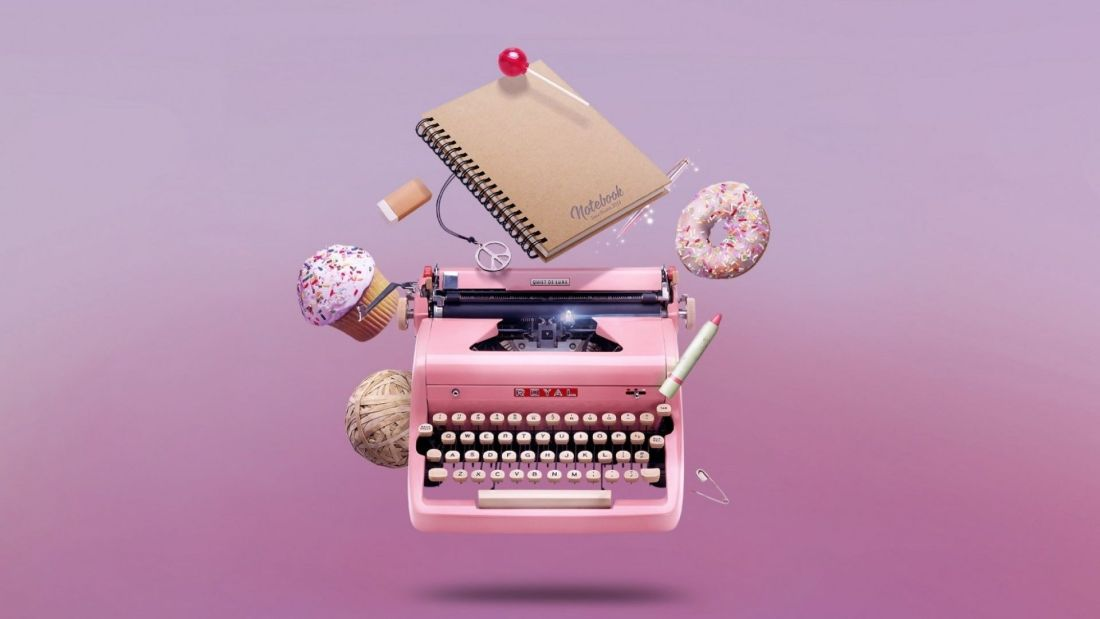 Writer's Block: How To Restart The Writer In You: A pink typewriter wallpaper