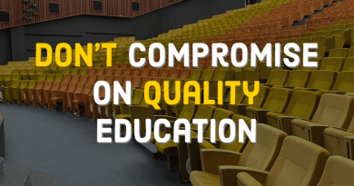 do not compromise on quality education