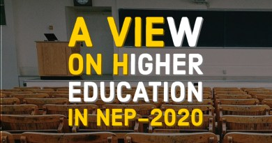 A View on Higher Education in NEP-2020