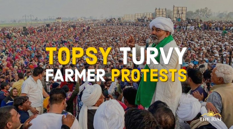 Topsy Turvy Farmer Protests