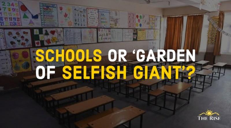 Schools becoming Garden of Selfish Giant