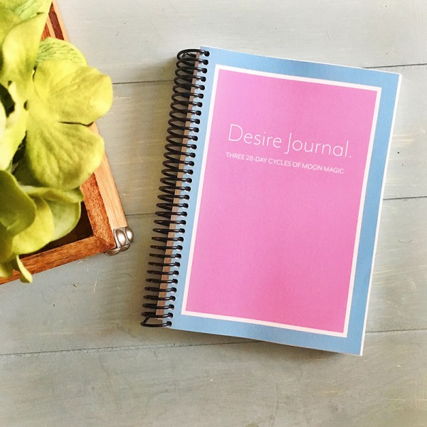 The Desire Journal guides us through a process of getting in sync with the cycles of the earth, Grandmother Moon, and our bodies. First we get clarity on our deepest desires, then track the moon cycle (whether it's tracking your period or tracking the phases of the moon), and document your process on a daily basis.