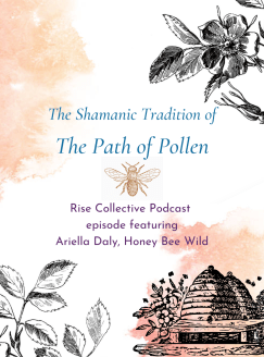 Ariella Daly is here to talk about the ancient shamanic tradition of the Path of Pollen, which originated in Ancient Greece, Lithuania, and the British Isles. The Path of Pollen does not teach beekeeping as we know it today, but works with the honey bee as a living symbol, ally and motif.