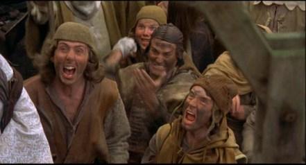 Monty Python witch hunt mob
