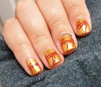 #31DC2015 - The One Ring Inscription Nail Art | The Rite of Aging