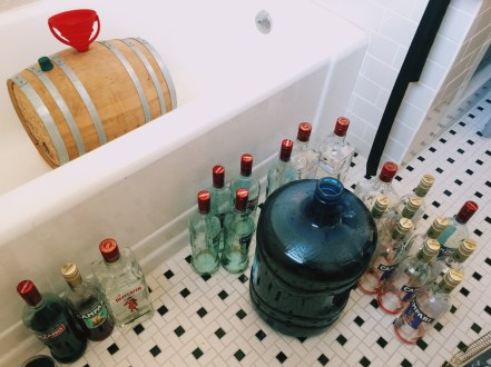 DIY Barrel-Aged Negroni -- Five gallons of Negroni ready for the barrel