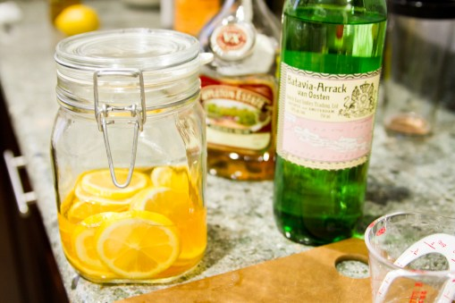 DIY Swedish Punsch -- Arrack/Rum/Lemon Infusion
