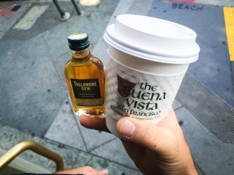 San Francisco Craft Spirits Carnival -- To-Go Irish Coffee from Buena Vista Cafe