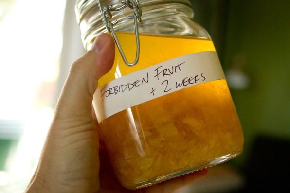 DIY Forbidden Fruit Liqueur