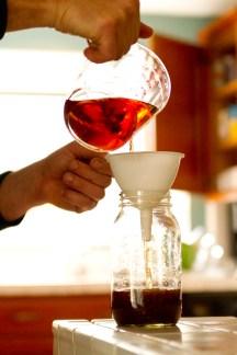 DIY Anisette de Bordeaux -- Straining & Pouring